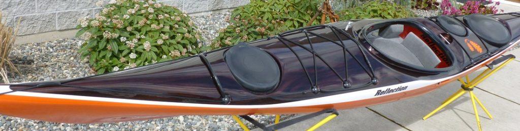kayak reflection noir et orange